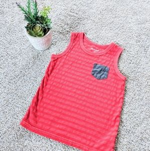 Cat & Jack Red Striped Tank